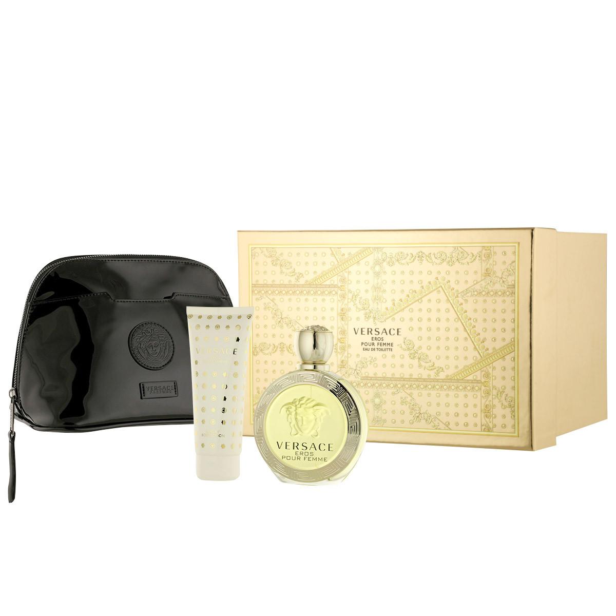 Versace Eros pour Femme EDT 100 ml + BL 100 ml + kosmetická taška W ... 3981433621