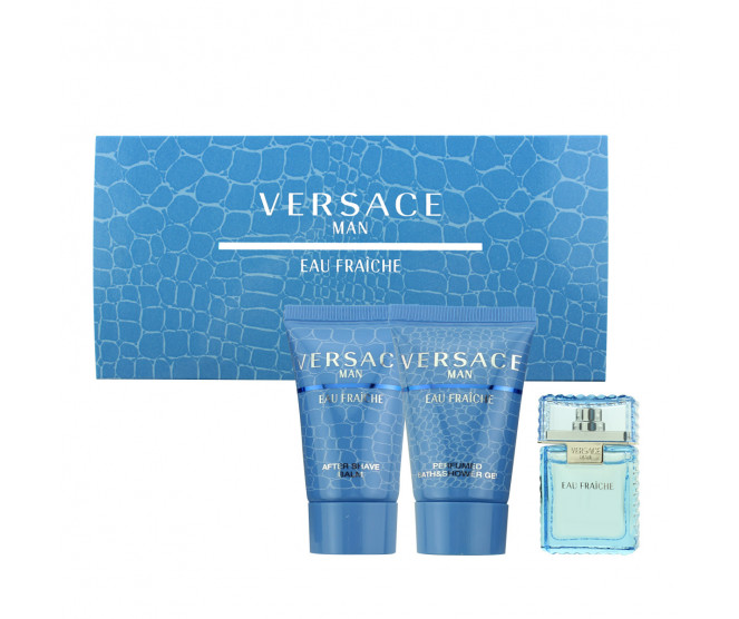 Versace Man Eau Fraîche EDT MINI 5 ml + ASB 25 ml + SG 25 ml M