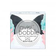 Invisibobble Bowtique Spiral Hair Ring Meets Bow (True Black) 1ks
