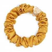 By Eloise London Gold Heart Silk Scrunchie