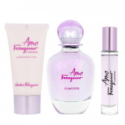 Salvatore Ferragamo Amo Ferragamo Flowerful EDT 100 ml + EDT MINI 10 ml + BL 50 ml W