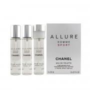 Chanel Allure Homme Sport EDT náplň 2 x 20 ml + EDT náplň s rozprašovačem 20 ml M