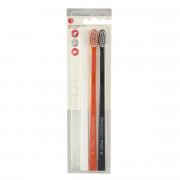Swissdent Gentle Extra-Soft zubní kartáčky (černý, oranžový, bílý) 3 ks